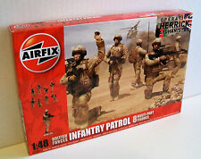 AIRFIX A03701 BRITISH FORCES INFANTRY PATROL 1:48 Plastic Kit Makes 8 Soldiers