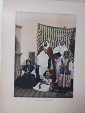 ALGERIE: Gravure 19° in folio couleur / KAID ET SA FAMILLE