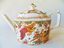 ROYAL CROWN DERBY OLDE AVESBURY ELY-CHELSEA TEAPOT CHELSEA MULT COLORED BIRDS