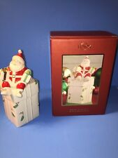 Lenox Christmas Collection Merry Musicals Santa Claus Music Box