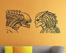 Aliens vs Predator Wall Decal Comics Vinyl Sticker Kids Room Home Art Decor 2avp