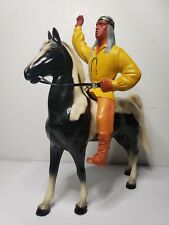 Vintage 1950's Hartland Cochise and Black and White Pinto Horse