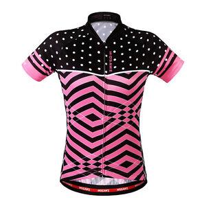 Women Short Sleeve Cycling Jersey & Shorts Set Bicycle Shirt MTB Bike Pad Pants