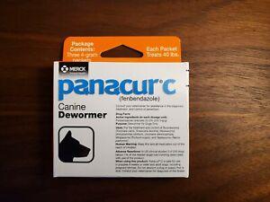 Panacur C Merck Fenbendazole Canine Dewormer 4 gram (3 packets in box)