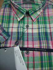 Camicie casual e maglie da uomo a manica corta di lino con colletto