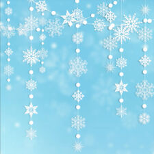 White Snowflake Garland kit Hanging Snow Flakes For Frozen Party Home Decoration