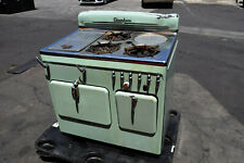 Vintage 1950's Olive Green Chambers Gas Oven Stove Cooking 3 Burner Model C