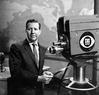 OLD CBS TV RADIO PHOTO Newscast Douglas Edwards With The News 1
