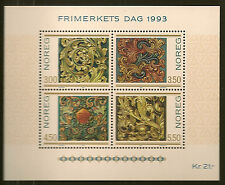 NORWAY: 1993 Stamp Day-Wood Carvings miniature sheet SG MS1168 unmounted mint