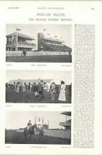 1896 Horse Race Redcar Races Stand Paddocks Lammermuir