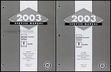 2003 Chevy Cavalier and Pontiac Sunfire Repair Shop Manual Set Service Books