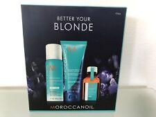 Moroccanoil Better Your Blonde Kit Purple Shampoo Dry Shampoo 25ml Oil UK F&Free
