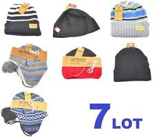 Winter Lot Of 7 Mens Beanie Hat Men Mixed Warm Brand New Tek Gear Urban Pipeline