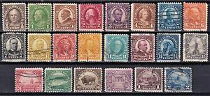 United States 1922-25 Scott 551-572 used