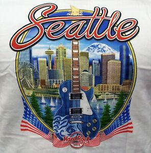 HARD ROCK CAFE SEATTLE V17 CITY TEE T-SHIRT SIZE ADULT XX-LARGE - NEW WITH TAGS