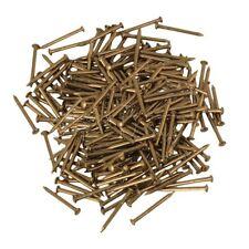 200x Brass Antique Brass Furniture  Copper Miniature Nail Round Head 18mm