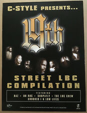 C STYLE 19th Street Rare 1997 PROMO POSTER of  LBC Compilation CD 18x24 USA MINT