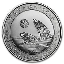 2016 Canada 3/4 oz Silver Howling Wolves BU - SKU #94292