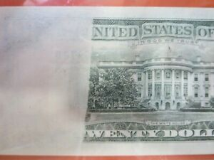 $20 1985 federal reserve note graded error:  insufficient inking  26-111