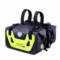 Motorcycle Pannier Bags Waterproof Motorbike Saddlebags Tail Bag Luggage Bag 50L