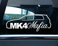 MK4 Mafia VAG silhouette sticker - for VW mk4 Golf R32 / GTi volkswagen