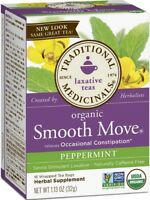 Traditional Medicinals Organic Smooth Move Tea, Peppermint 16 ea (Pack of 3)