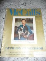 McCall's March 1956 Dutchess of Windsor stories recipes food fashion cut out