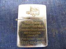 Vtg LIGHTER MID STATES DIESEL SERVICE SERVICE TRUCK TRANSPORTATION COLLECTOR