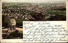 Litho-AK Gruss Aus WIESBADEN Blick Neroberg 1903 Bedarfspost gel. n/ Würzburg
