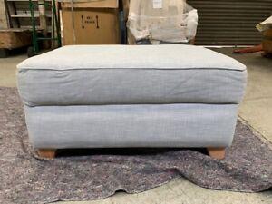 Debenhams Brushed Cotton Storage Footstool, Light Blue - RRP £260.00
