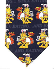 Garfield Cat Still Eating Mens Necktie Keith Daniels Cartoon Gift Neck Tie New