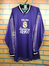 Real Madrid Jersey 1997 1998 Long Sleeve XL Away Shirt Football Soccer Kelme
