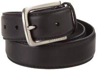 Tommy Hilfiger Men's Black Dress Belt Stitch Leather 11tl02x038-blk