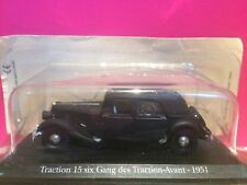 SUPERBE CITROEN TRACTION 15 SIX GANG DES TRACTIONS AVANT 1/43 SOUS BLISTER F5