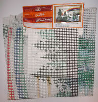 """BUCILLA CANVAS Only For Hooked Rug Forest Rainbow 24""""x36"""" w Instruction Sheet"""