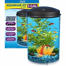 API Aquaview 360 Aquarium Kit with LED Lighting and Internal Power Filter,