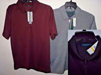 NEW Perry Ellis 1/4 Zipper Short Sleeve Polo Shirt