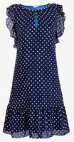 J.Crew Womens Dress Blue White Polka Dot Flutter Sleeve Size XL NWT