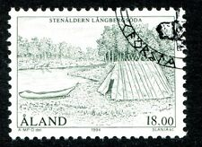 Aland Island Stamp Scott #107 Stone Age Stenaldern Langbergsoda 1994