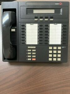 Merlin phone system by Lucent, model #MLX-28D, black and tan colored