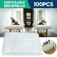 100X Disposable Bed Couch Pad Cover Plastic Massage F6W3 AU Table Sheet E7G7