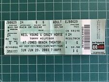 Neil Young and Crazy Horse 6-29-2003 Concert Ticket Stub Jones Beach Ny