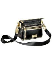 Versace Parfums Black And Gold Crossbody Bag