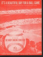It's A Beautiful Day For A Ball Game 1955 Sheet Music