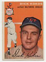 1954 Topps #106 Dick Kokos Baltimore Orioles