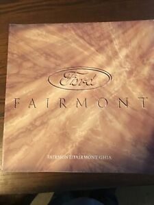 Ford Fairmont EA New Zealand sales brochures - 1998