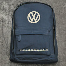 Volkswagen VW Logo Premium Canvas Rucksack Backpack Bag Navy Motoring Gift 37023