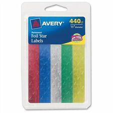 "Avery Self-adhesive Foil Stars - Star - 0.5"" - Foil - Assorted (AVE06007)"