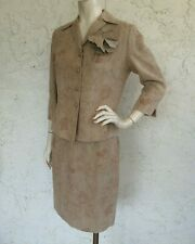 RICKIE FREEMAN Teri Jon Suits Linen Jacket and Skirt Set Sz 10P