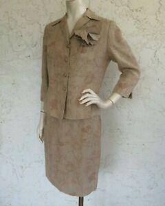 RICKIE FREEMAN Teri Jon Suits Linen Jacket and Skirt Set 10P
